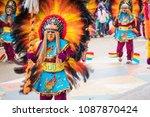 oruro  bolivia   february 10 ... | Shutterstock . vector #1087870424