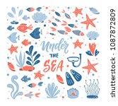 vector under the sea... | Shutterstock .eps vector #1087872809