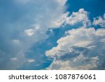 white cloud and blue sky | Shutterstock . vector #1087876061