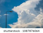 street lamp with blue  sky | Shutterstock . vector #1087876064