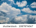 white cloud and blue sky | Shutterstock . vector #1087876067