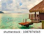 overwater bungalow moorea | Shutterstock . vector #1087876565