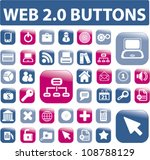 web glossy smart phone buttons...