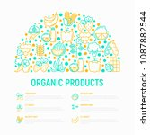 organic products concept in... | Shutterstock .eps vector #1087882544