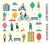 vector illustration in flat... | Shutterstock .eps vector #1087885091