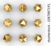 gold platonic primitive set...   Shutterstock . vector #1087887191