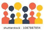people with speech balloon ...   Shutterstock .eps vector #1087887854