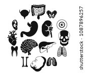 human organs icons set. simple... | Shutterstock .eps vector #1087896257