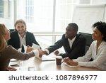 african businessman and... | Shutterstock . vector #1087896977