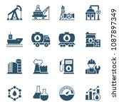 set of oil industry icons.... | Shutterstock .eps vector #1087897349