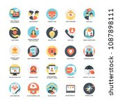 flat icon set of dating   | Shutterstock .eps vector #1087898111
