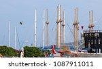 turkey   august 7  2017  masts... | Shutterstock . vector #1087911011