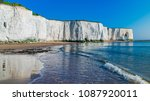 view of white chalk cliffs and...   Shutterstock . vector #1087920011