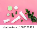 cosmetics for skin care with... | Shutterstock . vector #1087922429