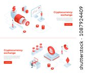 cryptocurrency exchange and... | Shutterstock .eps vector #1087924409