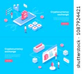 cryptocurrency exchange and... | Shutterstock .eps vector #1087924421
