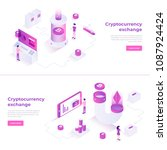 cryptocurrency exchange and... | Shutterstock .eps vector #1087924424
