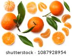 Mandarin With Slices And Green...