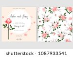 save the date card  wedding... | Shutterstock .eps vector #1087933541