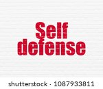 security concept  painted red... | Shutterstock . vector #1087933811