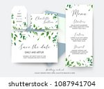 wedding save the date  place...   Shutterstock .eps vector #1087941704
