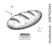 bread vector drawing. bakery... | Shutterstock .eps vector #1087942364