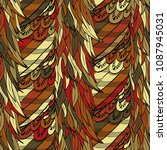seamless hand drawn pattern... | Shutterstock .eps vector #1087945031