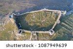 roman ruins of enisala citadel. ... | Shutterstock . vector #1087949639