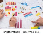 financial analysts working with ... | Shutterstock . vector #1087961111