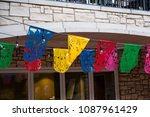 fiesta san antonio flags on a... | Shutterstock . vector #1087961429