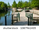 north river walk area near the... | Shutterstock . vector #1087961435