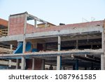 building demo being done to... | Shutterstock . vector #1087961585