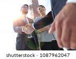 friendly handshake of business... | Shutterstock . vector #1087962047