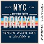 college brooklyn sport... | Shutterstock .eps vector #1087978217