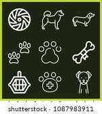 set of 9 dog outline icons such ... | Shutterstock .eps vector #1087983911