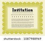 yellow formal invitation.... | Shutterstock .eps vector #1087988969