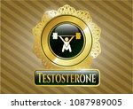 gold badge with snatch ...   Shutterstock .eps vector #1087989005