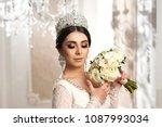 portrait of young beautiful... | Shutterstock . vector #1087993034