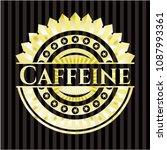 caffeine gold badge   Shutterstock .eps vector #1087993361