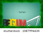 a frame of grass with the word... | Shutterstock .eps vector #1087996634