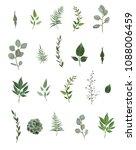 vector designer elements set... | Shutterstock .eps vector #1088006459