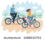 vector cartoon illustration of... | Shutterstock .eps vector #1088010701