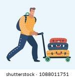 vector cartoon illustration of... | Shutterstock .eps vector #1088011751