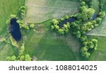 aerial view from drone  small... | Shutterstock . vector #1088014025
