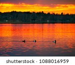 Sunset Over Lake In Bemidji ...