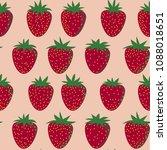 vector seamless strawberry... | Shutterstock .eps vector #1088018651