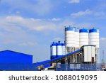 cement concrete mixing equipment | Shutterstock . vector #1088019095