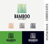 bamboo logo designs template | Shutterstock .eps vector #1088021051