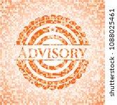 advisory abstract orange mosaic ... | Shutterstock .eps vector #1088025461