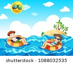 a couple taking honeymoon at... | Shutterstock .eps vector #1088032535
